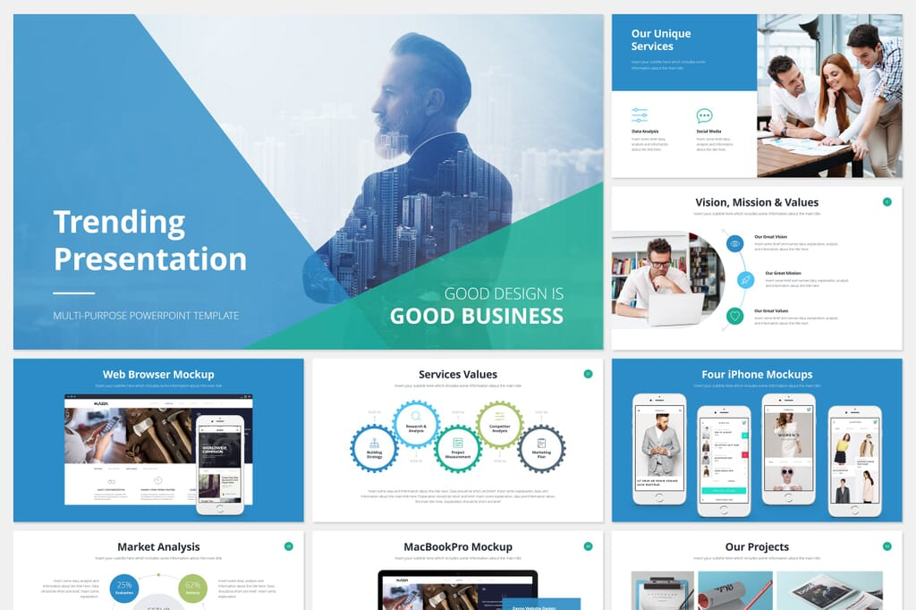 Business power point presentation template 1